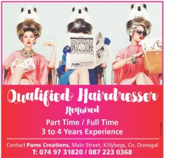Qualified Hairdresser Required for sale