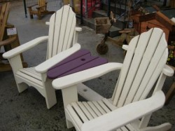 Double Arkdeck Painted Loveheart Seat with Table