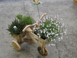 Ornamental Tricycle Double Planter