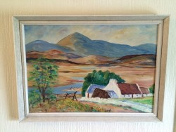 Rural Irish landscape oil painting