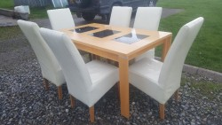 Table and 6 leather chairs  for sale