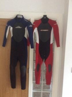 2 Alder kids wetsuits  for sale
