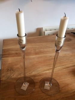 Pair of Elegant Handmade Candlesticks