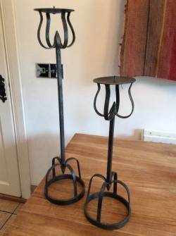 Pair of Medieval Style Candle Holder