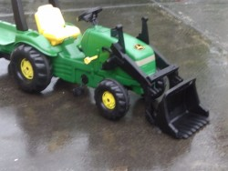 John Deere tractor and trailer for sale