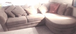 L shaped corner couch  for sale