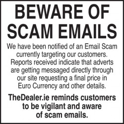 BEWARE OF SCAM EMAILS for sale