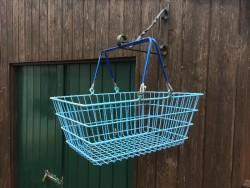 Vintage shopping baskets.