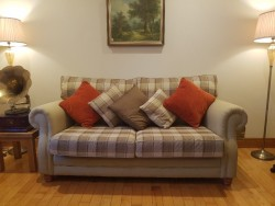 Solid Beech Frame Three Piece Suite 3+1+1 for sale