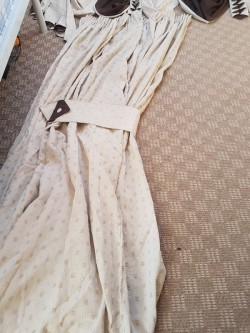 Brown & Cream Large Curtains with Pelmet Material