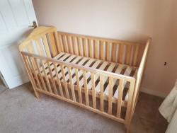 Oak baby bedroom furniture