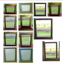 12 Picture Frames mixed, sold individually or as lot, this price is for lot