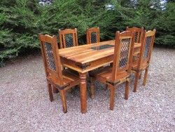 Indian Sheesham (Solid Rosewood) Table & Chairs for sale