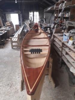Canadian strip canoe
