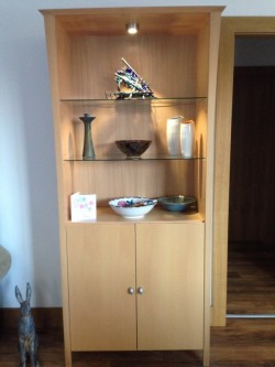 Beech veneer living room unit  for sale