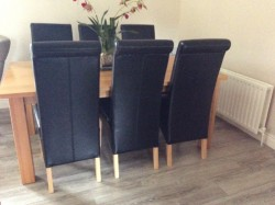 6 Leather Dining Room Chairs for sale