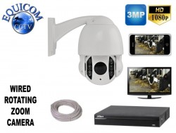 Wired Rotating Zoom Calving Camera System