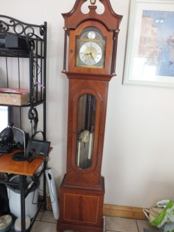 GRANDFATHER CLOCK FROM JAMES STEWART ARMAGH PERFECT CONDITION for sale