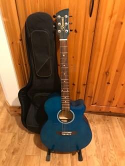 Brunswick semi acoustic guitar and case