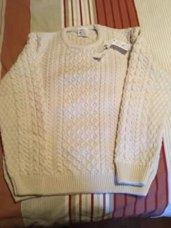 Aran knit jumper