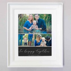 Be Happy Together Photo Collage Wall Art - Domore