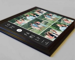 Love is Family Framed Photo Collage - Domore Pictures