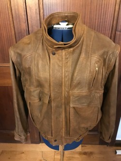 Original Vintage 80's Leather Unisex Jacket