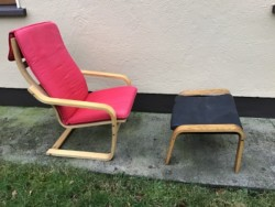 Ikea Chair and foot stool.