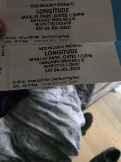 Longitude tickets for sale