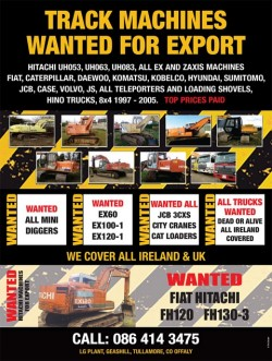 Track Machines Wanted For Export