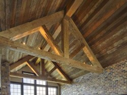 Reclaimed Pitch Pine Roof Trusses