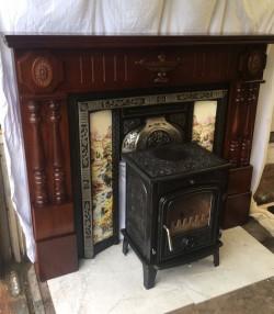 Stove + Fireplace + Insert + Black Hearth