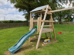 Swing and slide frame