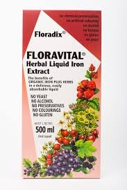 Floradix Floravital Liquid Iron and Vitamin formula 500 ml