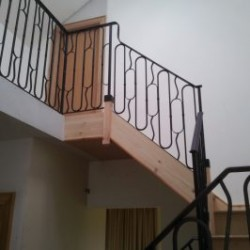 Bannisters interior and exterior can be galvanised
