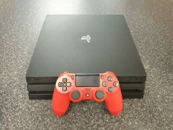 Sony Playstation 4 PS4 PRO 1TB Console with a Red Controller - Boxed