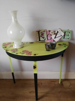 Whimsical Burst Console Table
