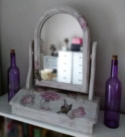 Vintage Ornate Dressing Table Mirror