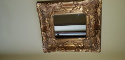 Heavy  guilt framed mirror 16ins x 18ins