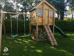 Hand Made Play House Swing &  Slide
