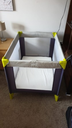 Travel Cot with foam mattress