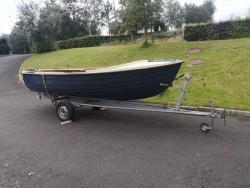 17ft boat, trailer and outboard engine