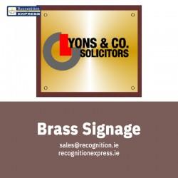 Brass Signage