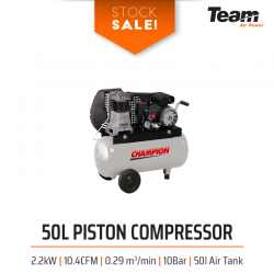 Stock Sale! 50 - 200l 3HP Piston Compressors
