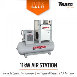 Stock Sale! 11 - 22kW Compressor, Dryer, Filters, Tank Package
