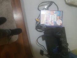 Ps2 console, controller and game