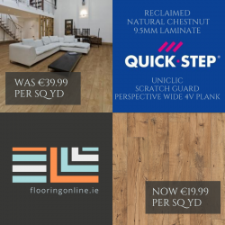 End of Summer Specials - Laminate Flooring - Chestnut