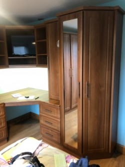 Medium walnut bedroom units