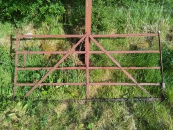 Antique wrought iron 8 foot farm gate