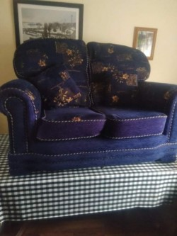 Two 2 seater couch and armchair
